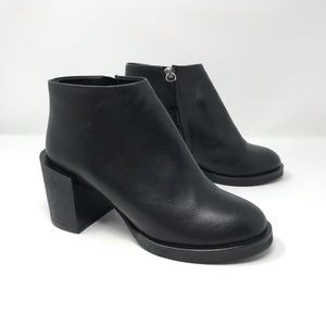 COS Black Ankle Booties Block Heel Size 5.5